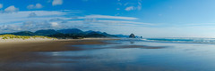 Cannon Beach (olijaeger) Tags: oregon northwest haystackrock beach beachhouse bluesky oceanfront seascape landscape panorama panoramic reflections reflection natur nature outdoor strand blue blau clouds mountains cascades colorful colors farben
