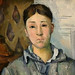 CEZANNE,1886-87 - Madame Cézanne en bleu (Houston) - Detail 35