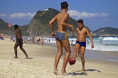 Footvolley+at+Leme+beach