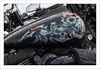 Skulls (Francis =Photography=) Tags: europa europe france grandest lorraine moselle moto motorbike motorrad harleydavidson crâne skull têtedemort peinture schädel painting malerei décoration decoration dekoration