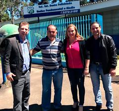 Visita no Safel diretor Luiz e vice Alecsandra, junto com o chefe de gabiente Ronald, do dep. Romanelli