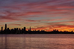 Fiery Sunset (AgarwalArun) Tags: sonya7m2 sonyilce7m2 sony sanfrancisco bayareacalifornia pacificocean ocean bridge marincounty scenic views landscape reflections treasureisland skyline skyscrapers sunset sunlight fierysunset