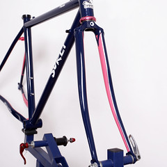 Surly / Pacer Frame Set Painted by Swamp Things. (starfuckers / Above Bike Store) Tags: surly pacer swampthings chrisking