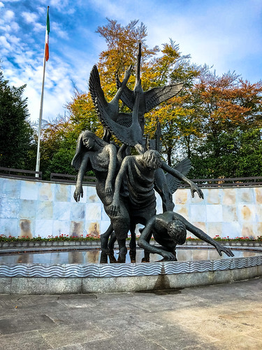 Children of Lir statue, Garden of Remembrance, Dublin