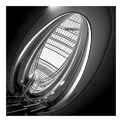 the curves above (Blende1.8) Tags: stilwerk duesseldorf düsseldorf wideangle interior architecture architektur indoor indoors curves curvy lines square modern contemporary glassroof roof glass glasdach ei form sony alpha ilce7m2 a7ii 1224mm nrw carstenheyer mono monochrome monochrom schwarzweiss black white bw sw sel1224g