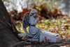 I am here (Millie (On and Off)) Tags: guardian angel praying tomb tree autumn fall leaves bokeh statue lionslakepark lebanonpa memorial canonef100400 soe inspiredbylove