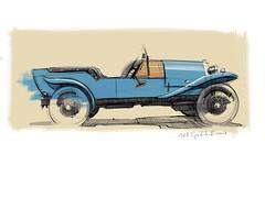 Bugatti Brescia s (Stefan Marjoram) Tags: sketch drawing ipad pro procreate apple pencil car vintage racing plein air