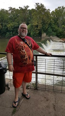 8/20/17 - Williams Dam in Williams, Lawrence County, Indiana (CubMelodic23) Tags: august 2017 williamsdam lawrencecounty water nature dam river whiteriver me dave selfportrait