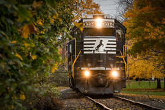 Fall?!? (marko138) Tags: cr3335 emd gp402 hs11 mechanicsburg ns3034 norfolksouthern pennsylvania exconrail fall leaves local locomotive railfan railroad railroadphotography standardcab train