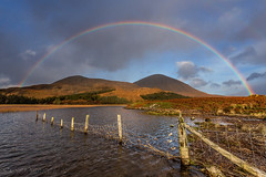 Getting Lucky (SkyeWeasel) Tags: scotland skye rainbow mountains luck beinnnacaillich loch kilchrist lochcillchriosd landscape serendipity
