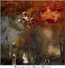 L'âme et l'esprit de l'abominable Orsolya-Yuliaya vavacrent aux confins de la Vie et de la Mort (Gislaadt Art - extremly sick) Tags: mort death vie life fantasy surreal soul forest tree drama