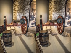 Old Canon at the Tower of London (Teddy Alfrey) Tags: 3d stereo crosseyed crosseye crossview