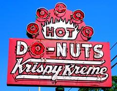 Krispy Kreme (e r j k . a m e r j k a) Tags: ohio akron signs neon roadside figure encore i77oh i76oh erjk