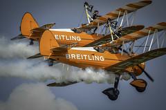 130825_Dunsfold_0218 (dandridgebrian) Tags: airshow dunsfold wingswheels airdisplay breitlingwingwalkers biplanes breitlingwingwalker boeingstearman