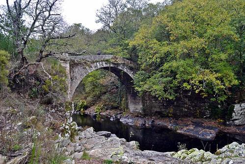 Ponte do demo sobre o río Deza