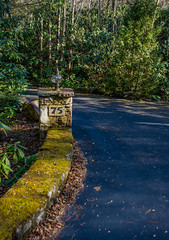 Moss on the entrance (JavaJoba) Tags: casheriers jackkennard nikon southcarolina diriveway moss nikond5200 stone travel travellocal atlanta ga usa