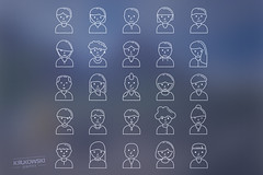 Faces Icon Set (mkrukowski) Tags: icon web internet business set vector symbol media technology school phone money mobile interface graphic shopping website button design bank collection computer pictogram social arrow ui concept flat app isolated
