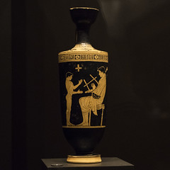 "Make Music –  V: Music Lesson (egisto.sani) Tags: man madrid lakythos ""red figure"" ""figure rosse"" cup coppa kylix ""pan painter"" ""pittore di pan"" ""late archaic"" archaic period"" ""greek art"" ceramic"" pottery"" ""ceramica greca"" vases"" ""caramica attica"" attic ""vasi greci"" etruria vulci ""national archaeological museum"" ""museo archeologico nazionale"" arqueológico national"""