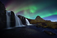 Under god's light (FredConcha) Tags: gods light aurora northernlights kirkjufell waterfall river night stars fredconcha nikon d800 1424 nature landscape mountain cliff iceland boreal volcanic rocks touristic under