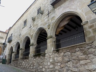 Casas Chaves-Sotomayor, 1486, Plaza Mayor, Trujillo, province de Caceres, Estrémadure, Espagne.