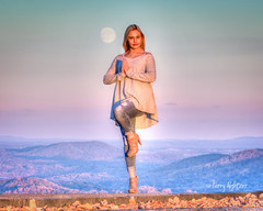 Isabella's Moon (Terry Aldhizer) Tags: isabella jessee senior ring moon november blue ridge mountains roanoke mountain lady girl woman view pose terry aldhizer wwwterryaldhizercom moonrise sunset