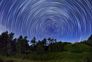 Star trails, Mountain Hehuan �歡山星軌