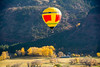 yellow balloon in fall yellow valley (maryannenelson) Tags: colorado durango fall balloonrally hotairballoons autumn landscape sky