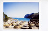 Sunbrellas (ronet) Tags: 52weeks caladesantvincenc fuji spain beach film instantfilm instax instaxmini8 mallorca sea calasantvicenç illesbalears