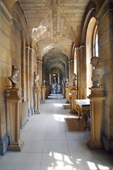 Spooky Long Gallery (Elaine 55.) Tags: castlehoward yorkshire haunted longgallery statues