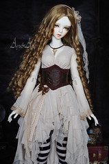 Steampunk Beauty (AyuAna) Tags: bjd ball jointed doll dollfie ayuana design handmade ooak clothing clothes dress set outfit fantasy style steampunk sadol love60 yena whiteskin