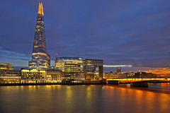Ci vediamo domani / See you tomorrow (The Shard, London, United Kingdom) (AndreaPucci) Tags: theshard london bridge uk sunset thames andreapucci south