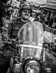 Sarge (Paco_X) Tags: police harley harleydavidson cpd clevelandpolice motorcycle motorcyclecop badge sunglasses moustache sergeant chriscamino street