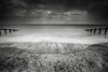 Dark Skies (Leigh Garner) Tags: beach aldeburgh 2017 leighgarner blackwhite seascape groyne nikond750 uk suffolk sudbourne england unitedkingdom gb
