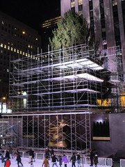 2017 Christmas Tree Rockefeller Center NYC 3630 (Brechtbug) Tags: 2017 christmas tree rockefeller center before lights 11112017 nyc 30 rock new york city standing up above ice rink with snow shoveling workers skating holiday decoration ornaments night lites light oversize load ornament prometheus gold mythological statue sculpture fountain fountains scaffolding scaffold pre thanksgiving