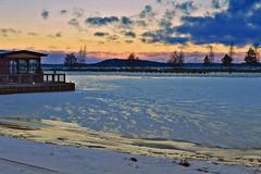 Ice Age in Finland ❄️ #Sunset #Winter (L.Lahtinen (nature photography)) Tags: finland winter ice lake sunset ❄️ 🎄 🎅 clouds light snow evening landscape nature nikond3200 naturephotography frost cold suomi järvimaisema järvi talvi pakkanen auringonlasku talvimaisema europe restaurant vesijärvi lahti