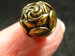 brass bud button