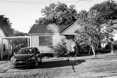 front yard barbecue (vhines200) Tags: columbia tennessee 2016 house suburbia barbecue bbq chevrolet yard