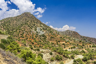 The Stavrovouni monastery in the mountains on the island of Cyprus