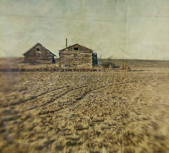 i heard they moved away (jssteak) Tags: canon t1i lensbaby rural planes buildings barn house abandoned colorado dustbowl