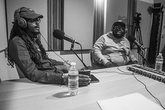 IMG_5043 (Brother Christopher) Tags: podcast podcasting hiphop culture engineroom psapodcast brooklyn thebronx bnw monochrome blackandwhite lsn loudspeakersnetwork brotherchris combatcancer combatjack combatjackshow explore audio entertainment