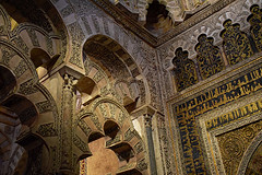 Mihrab, the Mosque in Cordoba (Jocelyn777) Tags: mosque mezquita architecturaldetails mosaics decoration arches monuments worldheritage cordoba andalucia spain travel historicsites