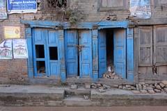 Earthquake damage (posterboy2007) Tags: bhaktapur nepal kathmanduvalley earthquake doors blue rubble unesco sony sonyrx100m3