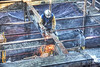 welder & ghostly helper (albyn.davis) Tags: construction people working welder hdr beams building workers nyc newyorkcity urban city