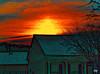 "Sunrise (crimsontideguy-from ""Sweet Home Alabama"" USA) Tags: art digitalart alabama conceptual home sunrise winter cloudsandsky clouds color photoshop nikon abstract orange dawn outdoors tree house building"
