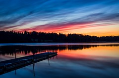 Sunset (Stefano Rugolo) Tags: stefanorugolo pentax k5 smcpentaxda1855mmf3556alwr sunset colors lake reflection water sky landscape hälsingland sweden sverige