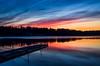 Sunset (Stefano Rugolo) Tags: stefanorugolo pentax k5 smcpentaxda1855mmf3556alwr sunset colors lake reflection water sky landscape hälsingland sweden sverige