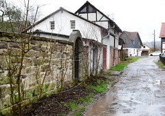 (:Linda:) Tags: germany thuringia town hildburghausen garden path wall stone barn halftimbered doorway
