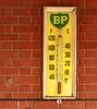 Boort VIC (phunnyfotos) Tags: phunnyfotos australia victoria vic boort thermometer bp brick brickwork nikon temperature d500 nikond500 logo mercury
