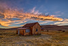 Moon at Sunset Over Unnamed Shack in Bodie (Jeffrey Sullivan) Tags: sunset bodie state historic park abandoned american wild west mining ghost town mono county bridgeport california usa landscape nature night photography canon eos 6d photo copyright 2014 jeff sullivan august workshop