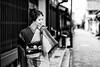 Kimono portrait (HarQ Photography) Tags: fujifilm fujifilmxseries xt2 portrait japan model nara street traditional monochrome blackandwhite xf56mmf12r bestportraitsaoi